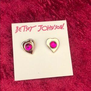 Betsey Johnson Heart of Glass Earrings - sample